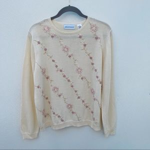 Vintage Alfred Dunner embroidered sweater medium